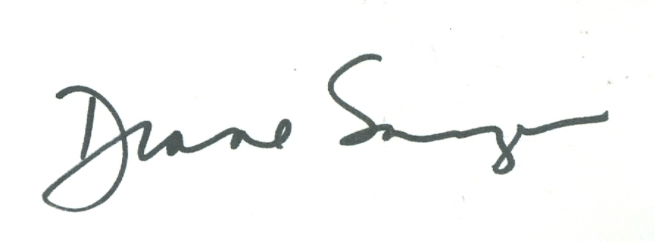 Diane Sawyer American Journalist Anchor ABC Signed Autographed 3x5 Index Card w/coa