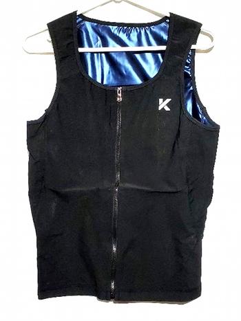 Men's Zipper Neoprene Sauna Vest Size L