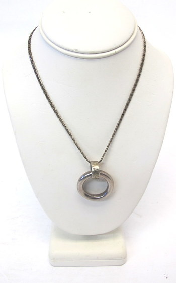 Vintage Sterling Silver Chain and Pendant