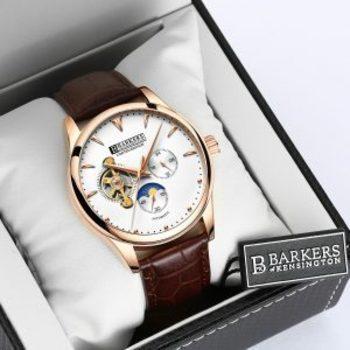 New Barkers Of Kensington Sport Luxury Men's Watch Retail $700.00