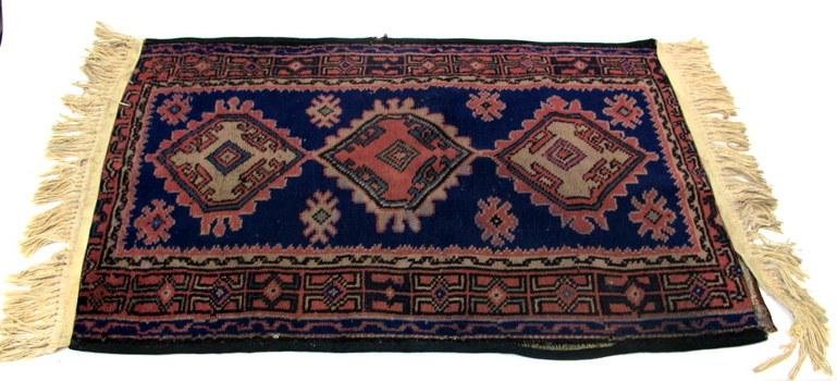 Vintage Distressed Praying Rug