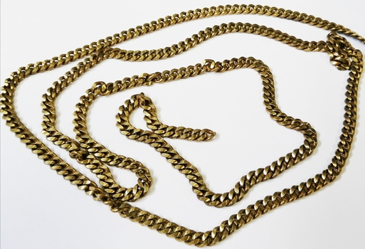BRASS CHAIN-10MM X 8MM BRASS CURB CHAIN-10FT.