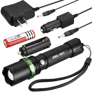 Tactical Police 10000Lumen CREE XM-L T6 LED 5Modes Flashlight Aluminum Torch - Green
