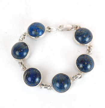 Sterling Silver and Lapis Lazuli Bracelet - $300.00 Retail