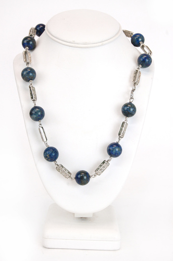 Vintage Sterling Silver and Lapis Lazuli Necklace - $1000.00 Retail