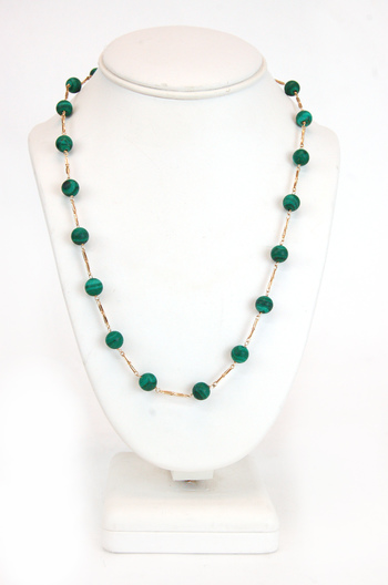 Vintage 14K Gold and Jade Necklace - $1500.00 Retail