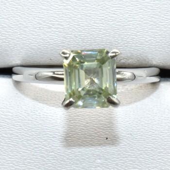 Sterling Silver Moissanite Ring Sz 8