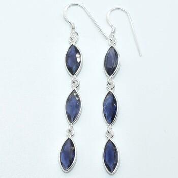 Sterling Silver Lolite Earrings