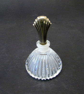 Crystal and Sterling Silver Perfume Bottle- Circa 1970's