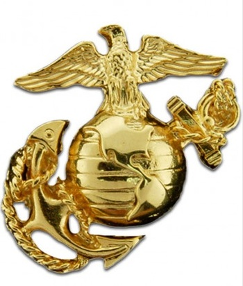 US Marine Corps Gold Pin