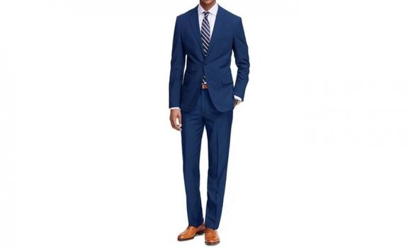 Braveman Men's Classic Fit 2-Piece Suit, Blue, Size 38R/32W