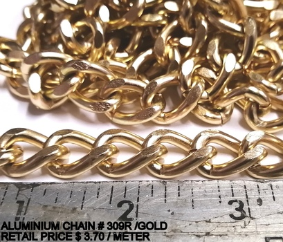 CHAIN - GOLD PLATED ALUMINIUM CHAIN - 20 METERS