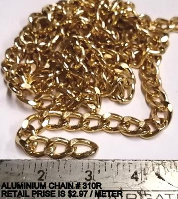 CHAIN - GOLD PLATED ALUMINIUM CHAIN - 20 METERS