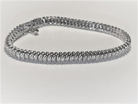 14 Kt Gold 3.00 Carat Diamond Tennis Bracelet