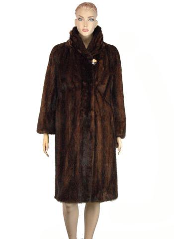 Women's Chestnut Brown Mink Coat - Size Medium