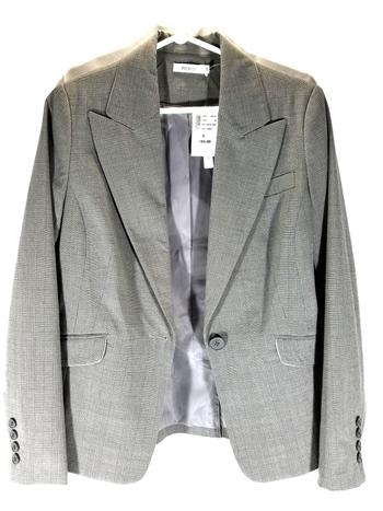 NWT Ladies Blazer Gray By Rickies Strech  S