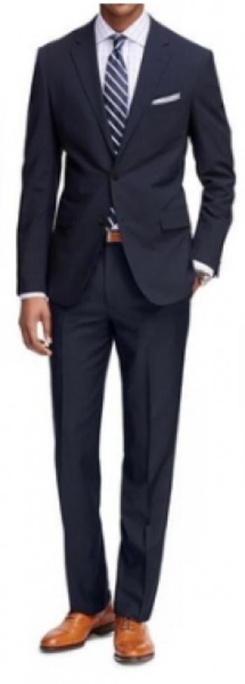 Men's Classic Fit 2-Piece Navy Suit, Size: 40L/34
