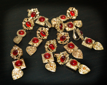 GOLD PLATED EARRINGS-PINS 10