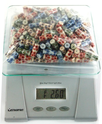 GLASS BEADS - OVER 1 LB OF JAPANESE GLASS BEADS FOR JEWELRY