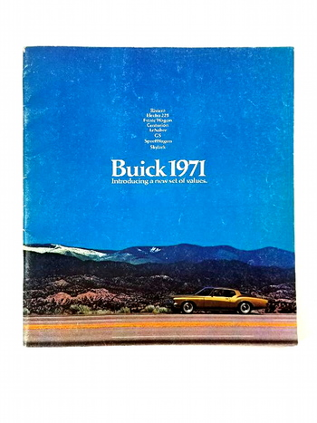 1971 Buick Riviera, Electra, LeSabre, GS, Skylark, Centurion Sales Brochure