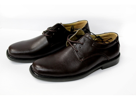 Men's Leather Shoes - Dark Brown - Size 12 - $69.99 Retail