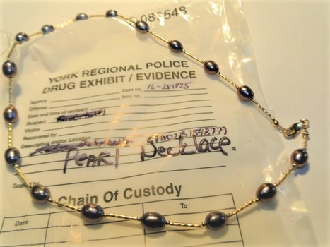 14 Kt Gold Akoya Japanese Pearl Necklace - Police Seized