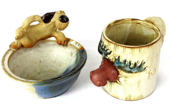 2 Hand Made Pottery Items