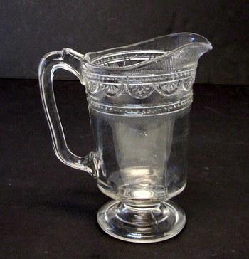 Victorian Pressed Glass Pitcher