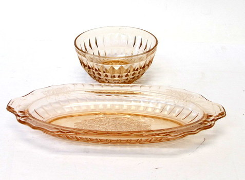 Vintage Pink Depression Glass Items