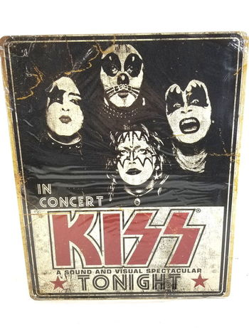 "In Concert KISS Metal Sign 12"" x 15"""