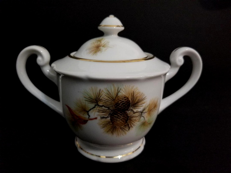 VTG Hand Painted Japan Fine Bone China Sugar Bowl