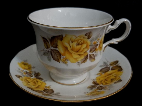 VTG Hand Painted Queen Anne Bone China Tea Cup and Saucer