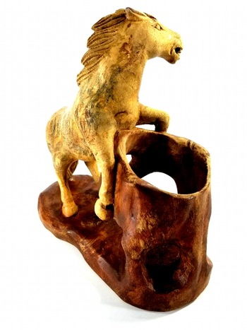 One Of A Kind Vintage Hand Carved Horse Sculpture