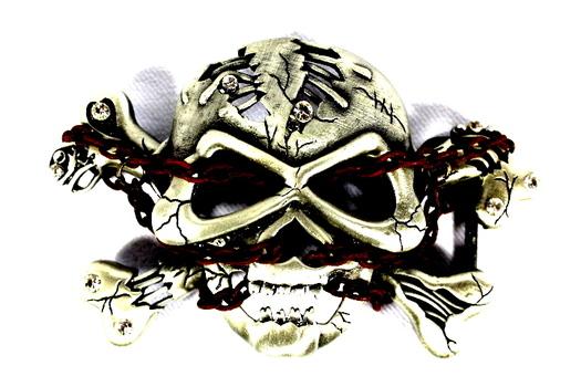 Skull & Chains Metal Belt Buckle