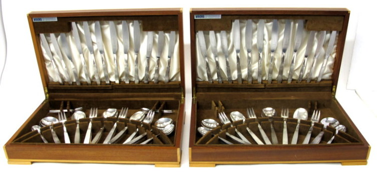 Vintage 93 Pieces Viners of Sheffield England Silver Plated  Flatware