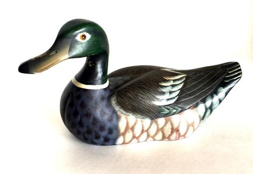 Hand Carved Wooden Mallard Duck