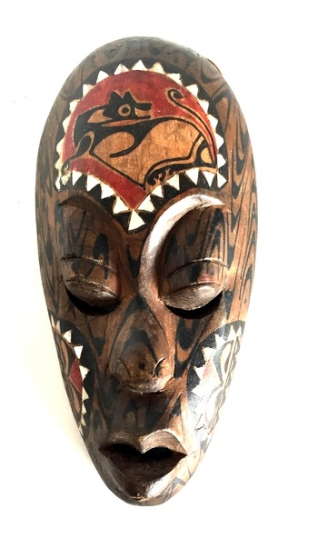 Vintage Small Carved Wooden Tribal Mask