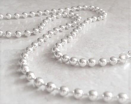 Roman Pearl Silver Necklaces 60 Inch 12 Pieces