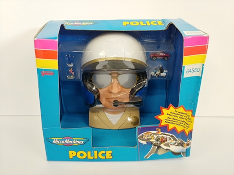Vintage Galoob Micro Machines Police Playset
