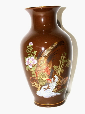 VTG Japan Hand Painted Porcelain Vase
