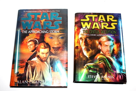 Lot of 2 Star Wars Hard Cover Books With Sleeves