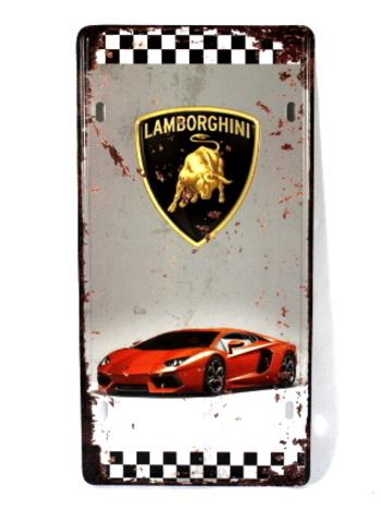 Lamborghini License Plate