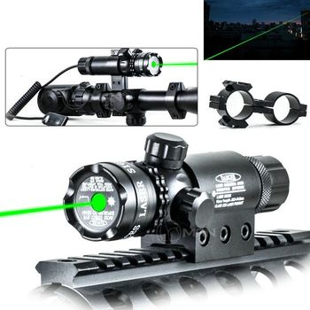 Tactical GREEN Laser Sight Mount w Remote Switch