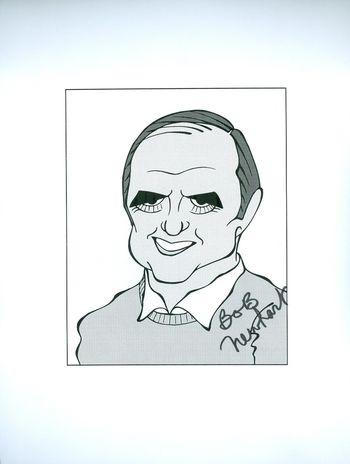 BOB NEWHART, The Bob Newhart Show Signed Auto 8.5x11 B&W Cartoon Original Autograph Signed W/COA $300 Retail