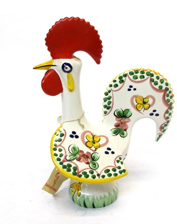 Vintage Ceramic Rooster of Luck and Happiness made in Portugal