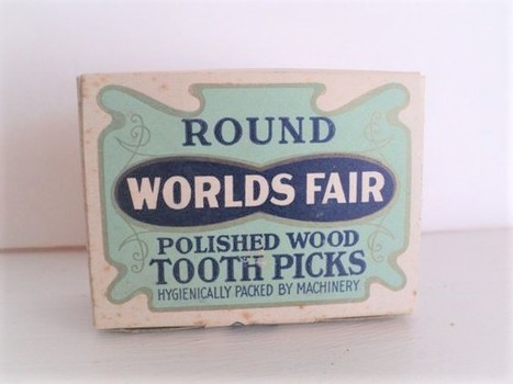 Toothpicks Worlds Fair Round Polished Wood Made in Maine 1900's