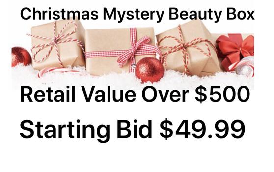 CHRISTMAS MYSTERY BEAUTY BOX ,  RETAIL VALUE RETAIL: OVER $500  BOX # 6