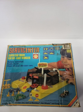 Vintage Toytronic Servicenter Super Car Wash