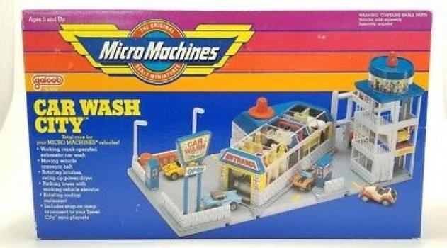 Vintage Galoob Micro Machines 1988 Car Wash City