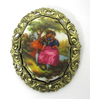 Vintage Fragonard Brooch made in W. Germany
